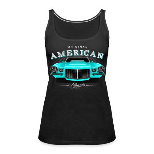 Classic Camaro SS Premium Tanktop Women   Black Turquoise - Women's Premium Tank Top