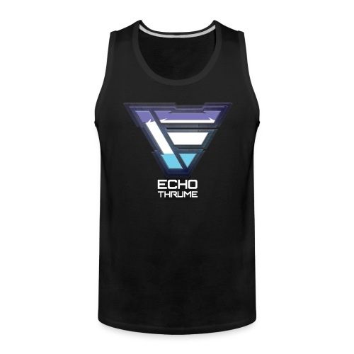 EchoThruMe 2018 design Tank w/ text - Men's Premium Tank