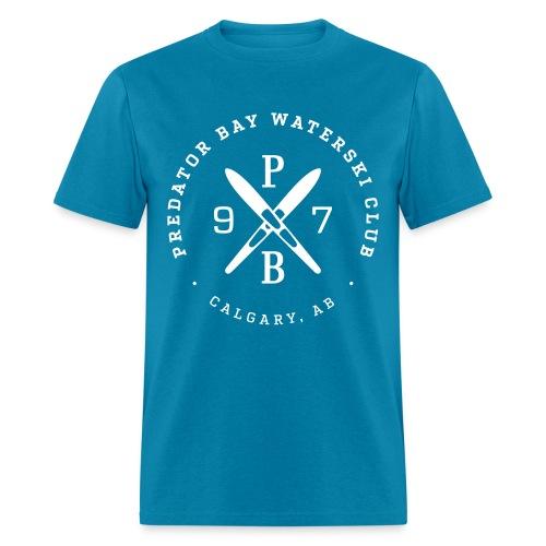 Mens T Shirt - Turquoise/White - Men's T-Shirt