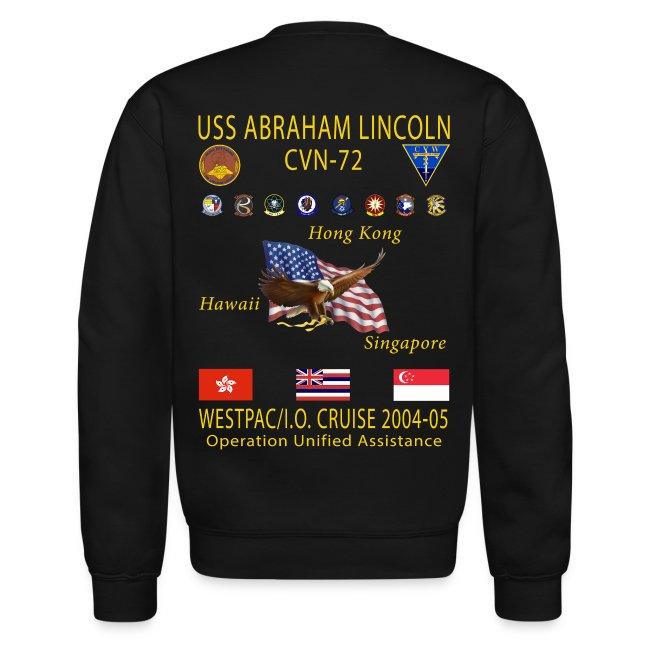 USS ABRAHAM LINCOLN CVN-72 WESTPAC 2004-05 CRUISE SWEATSHIRT