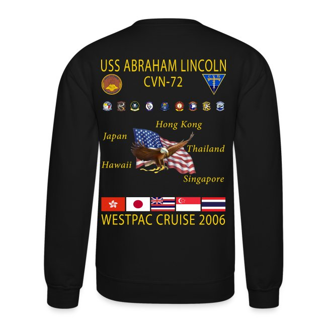 USS ABRAHAM LINCOLN CVN-72 WESTPAC 2006 CRUISE SWEATSHIRT