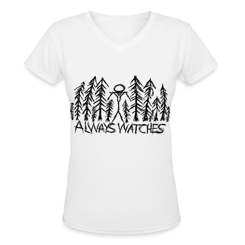Slenderman Female Tee - Women's V-Neck T-Shirt