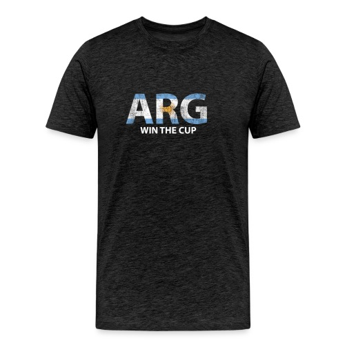 World Champs Soccer - Argentina Win The Cup - Men's Premium T-Shirt