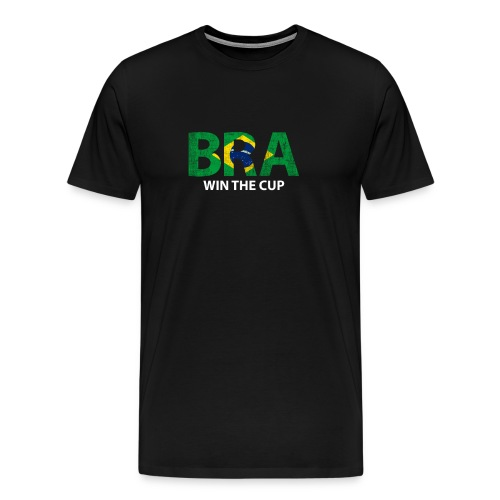 World Champs Soccer - Brazil Win The Cup - Men's Premium T-Shirt