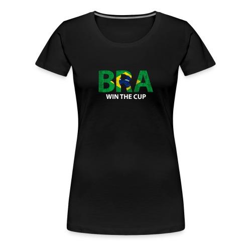 World Champs Soccer - Brazil Win The Cup - Women's Premium T-Shirt