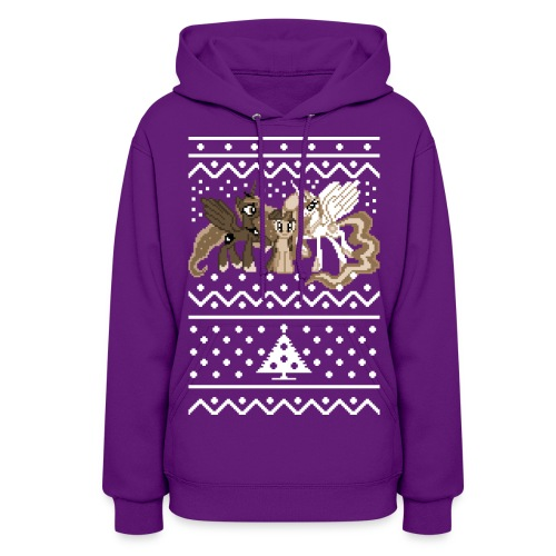 Heart's Warming Faux Sweater - Women's Hoodie