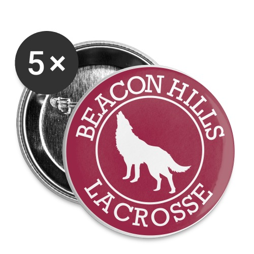 Beacon Hills Lacrosse Logo - Button v2 - Small Buttons