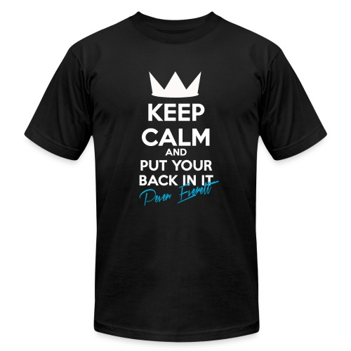 Keep Calm and Put Your Back In It Homme - Night - Men's Fine Jersey T-Shirt