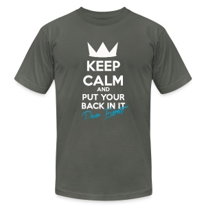 Keep Calm and Put Your Back In It Homme Elephant Grey - Men's Fine Jersey T-Shirt