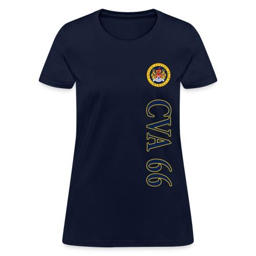 USS AMERICA CVA-66 WOMENS VERT STRIPE TEE  - Women's T-Shirt