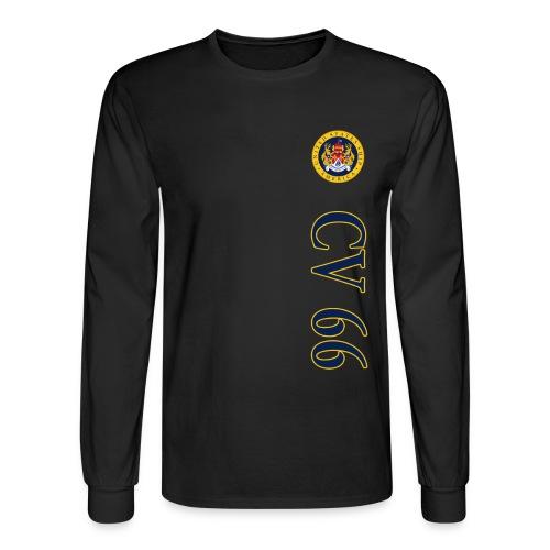 USS AMERICA CV-66 VERT STRIPE LONG SLEEVE - Men's Long Sleeve T-Shirt