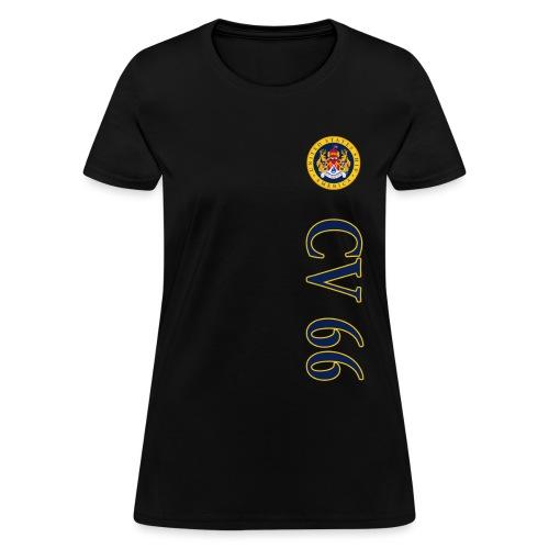 USS AMERICA CV-66 VERT STRIPE WOMENS TEE - Women's T-Shirt