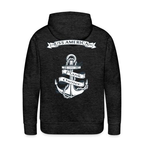 USS AMERICA PLANK OWNER HOODIE - Men's Premium Hoodie