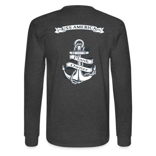 USS AMERICA PLANK OWNER LONG SLEEVE - Men's Long Sleeve T-Shirt