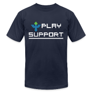 T-Shirts ~ Men's T-Shirt by American Apparel ~ I Play Support