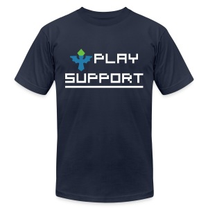I Play Support - Men's T-Shirt by American Apparel