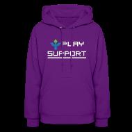 Hoodies ~ Women's Hooded Sweatshirt ~ I Play Support