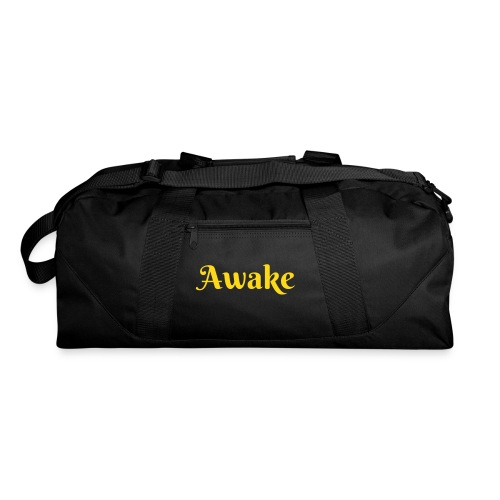 Awake blue YELLOW wordsduffle bag - Duffel Bag