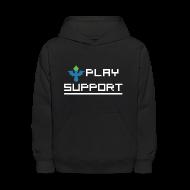 Sweatshirts ~ Kids' Hooded Sweatshirt ~ I Play Support