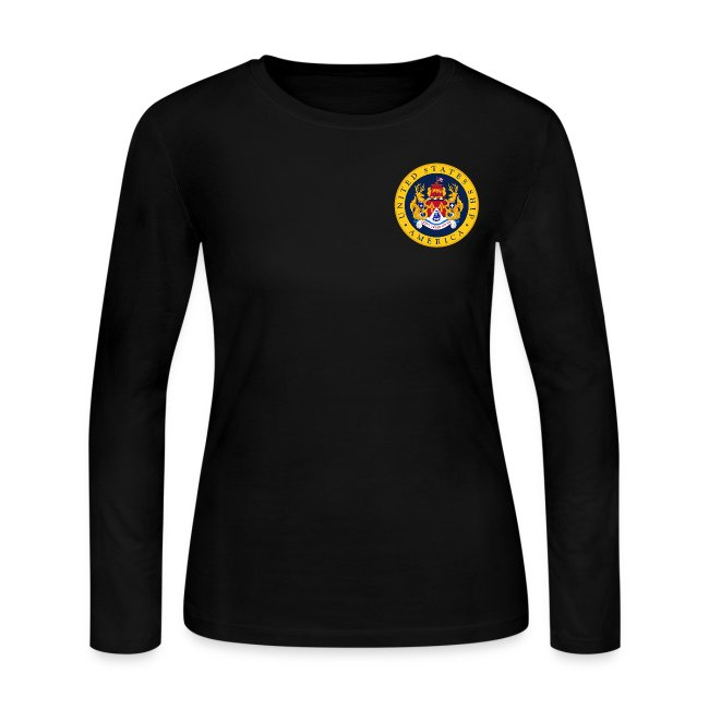 USS AMERICA CVA/CV-66 WOMENS LONG SLEEVE CREST SHIRT