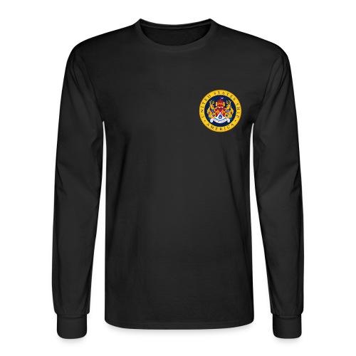 USS AMERICA CVA/CV-66 LONG SLEEVE CREST SHIRT  - Men's Long Sleeve T-Shirt