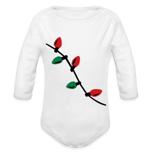 Christmas Light   - Organic Long Sleeve Baby Bodysuit