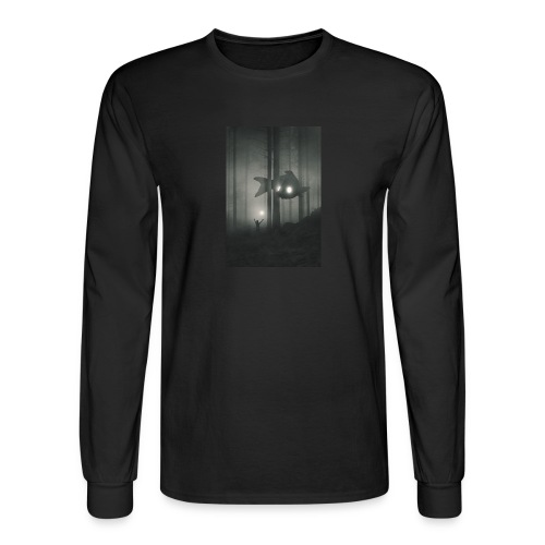 Men's Long Sleeve T-Shirt (Graphic on Front. Text on Back) - Men's Long Sleeve T-Shirt