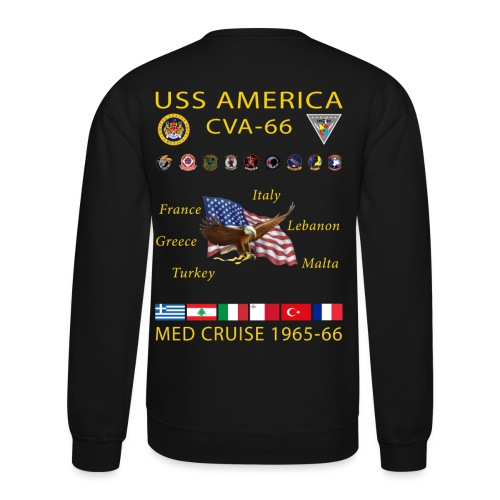 USS AMERICA CVA-66 1965-66 CRUISE SWEATSHIRT - Crewneck Sweatshirt