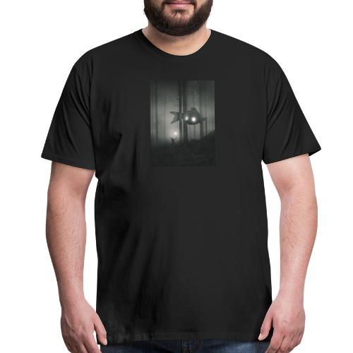 Men's Short Sleeve T-Shirt (Graphic on Front and Text on Back) - Men's Premium T-Shirt