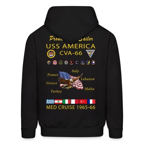 USS AMERICA CVA-66 1965-66 CRUISE HOODIE - FAMILY - Men's Hoodie