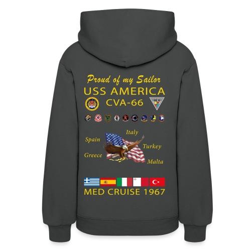 USS AMERICA CVA-66 1967 WOMENS CRUISE HOODIE - FAMILY - Women's Hoodie