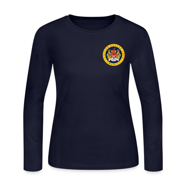 USS AMERICA CVA-66 1967 WOMENS LONG SLEEVE CRUISE SHIRT - FAMILY