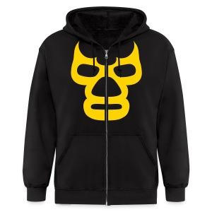 Lucha Mask Zip Hoodie - Men's Zip Hoodie