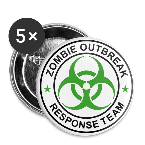 Zombie Outbreak Buttons! - Buttons small 1'' (5-pack)