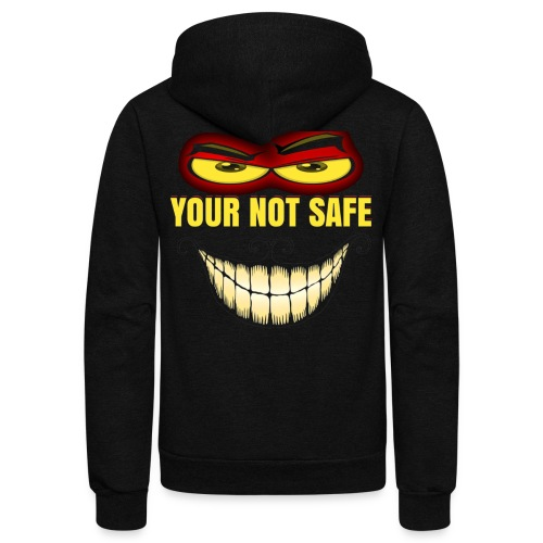 NOBODY IS SAFE HOODY - Unisex Fleece Zip Hoodie