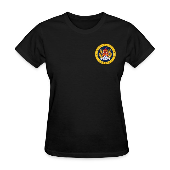 USS AMERICA CV-66 1977-78 WOMENS CRUISE SHIRT - FAMILY