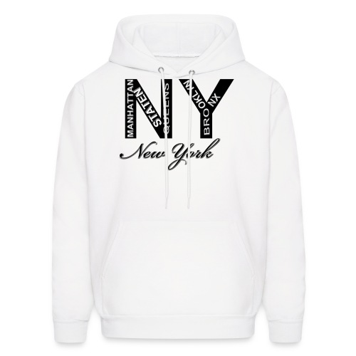 New York White Men Hoody - Men's Hoodie