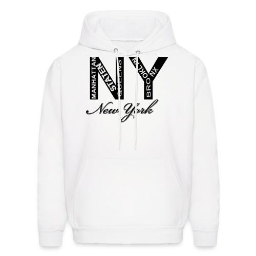 New York White Men Hoody - Men's Hoodie