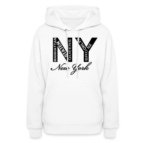 New York White Women Hoody - Women's Hoodie