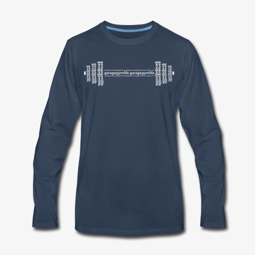 Barbell Graphic Long sleeve - Men's Premium Long Sleeve T-Shirt