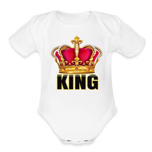 KINGS CROWN ONESIE - Organic Short Sleeve Baby Bodysuit