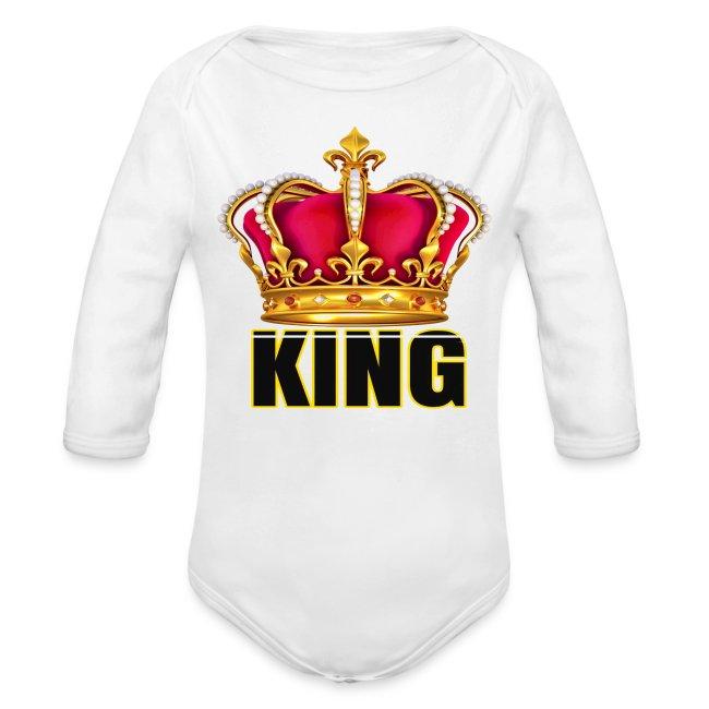 KINGS CROWN LONG SLEEVE ONESIE