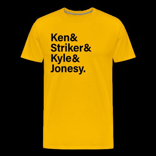 Men of Fortnite Shirt (black text) - Men's Premium T-Shirt