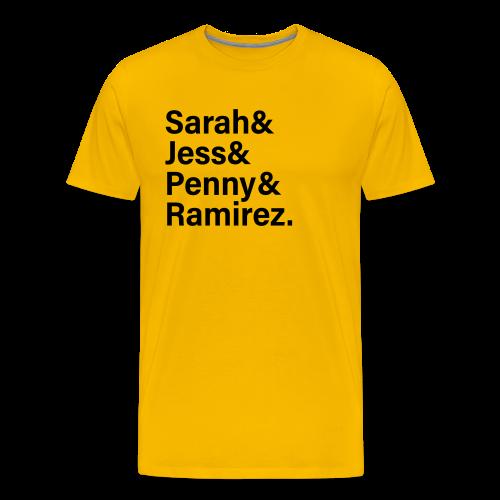 Women of Fortnite Men's Shirt (black text) - Men's Premium T-Shirt