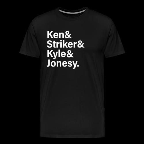 Men of Fortnite Men's Shirt (white text) - Men's Premium T-Shirt