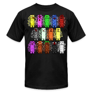 T-Shirts ~ Men's T-Shirt by American Apparel ~ Elemental Creeps Design #1