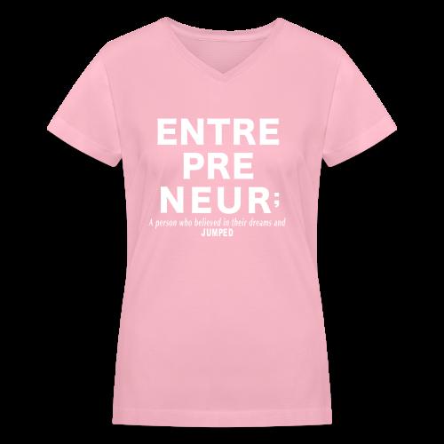 Entrepreneur - Women's V-Neck T-Shirt