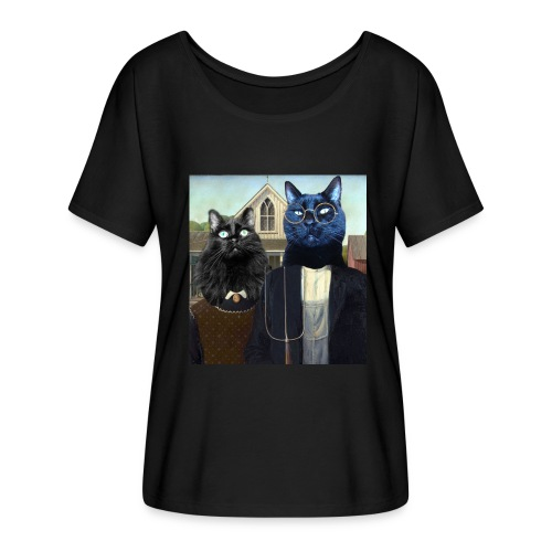 Titania and Nutter Gothic - Women's Flowy T-Shirt