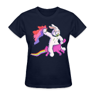 T-Shirts ~ Women's T-Shirt ~ Fun Bunny Ride (Women)