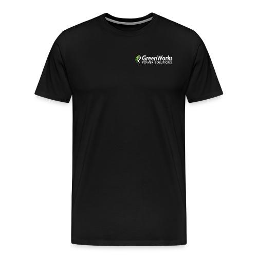Greenworks Logo Small Cotton White - Men's Premium T-Shirt